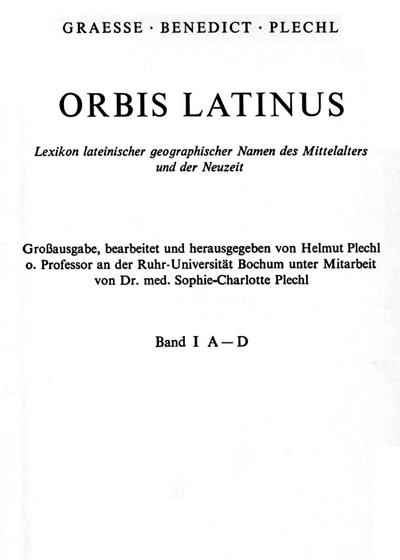 Orbis latinus: Titelblatt des ersten Bandes der Großausgabe (1972)