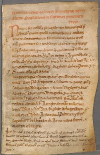 Liber censualium: fol.2r with the oldest traditions (c. 1078 - 1098).