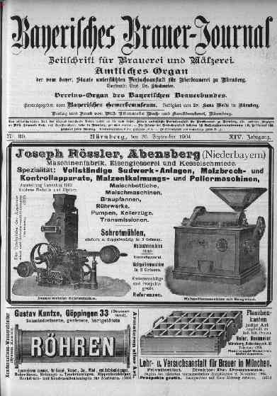 Bayerisches Brauer-Journal, 26.September 1904