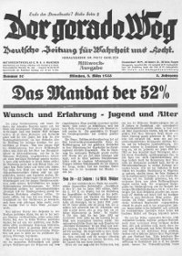 Der Gerade Weg, 8th march 1933